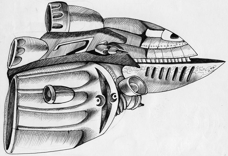 Comment dessiner un vaisseau spatial - Dessin vaisseau spatial ...